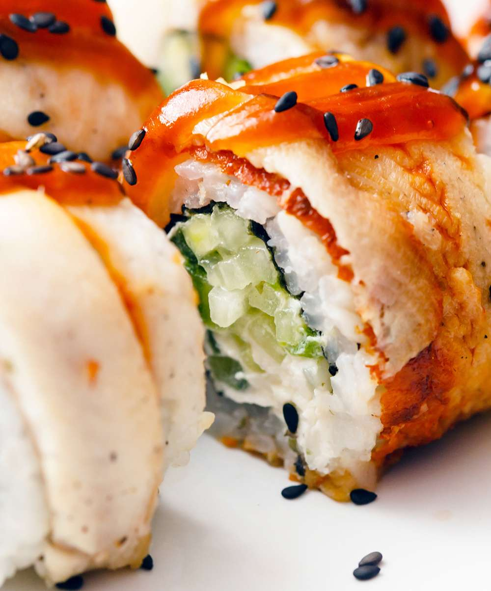 California Roll with Black Sesame