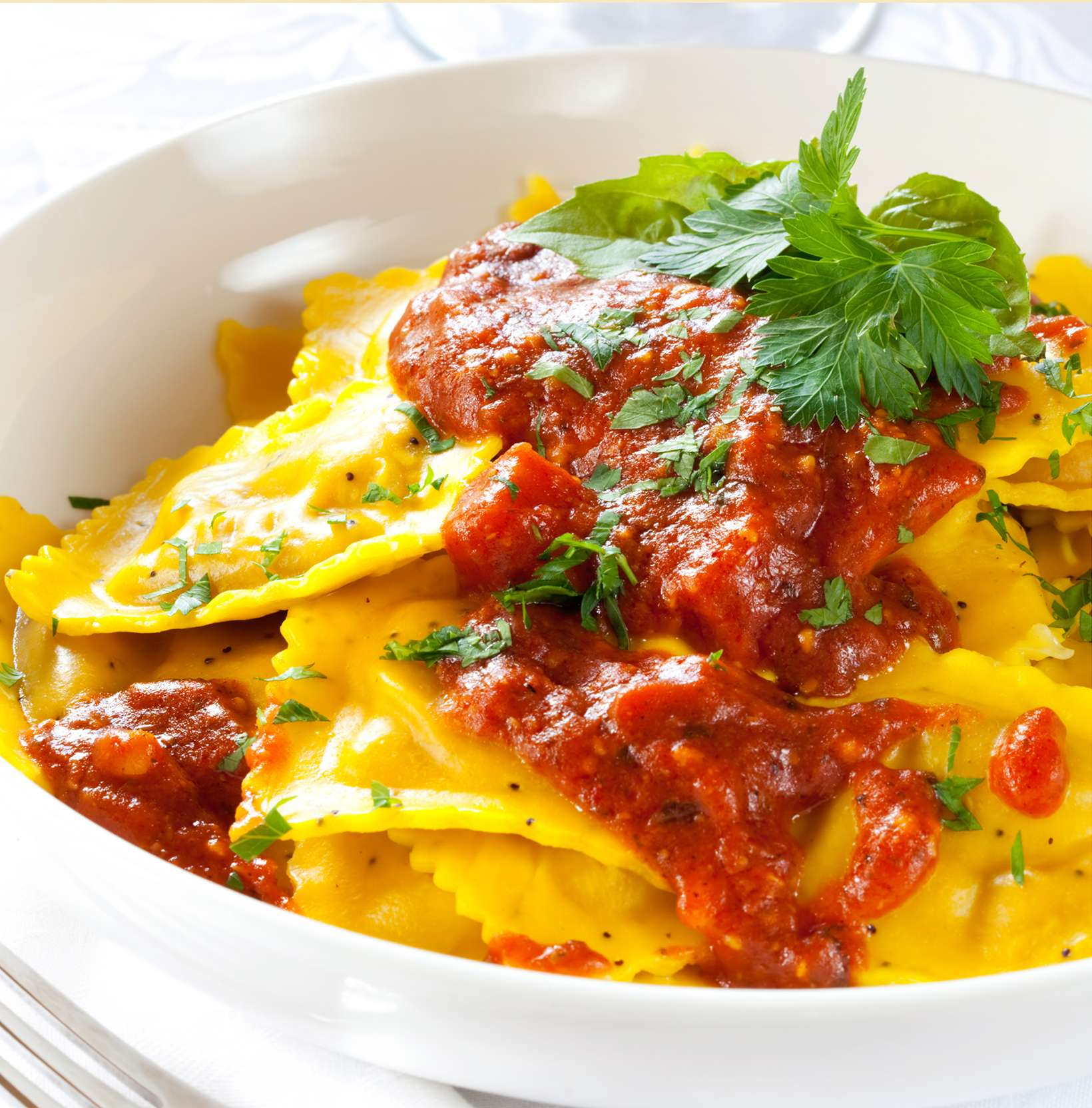 Ravioli with Goats' Cheese and Meat